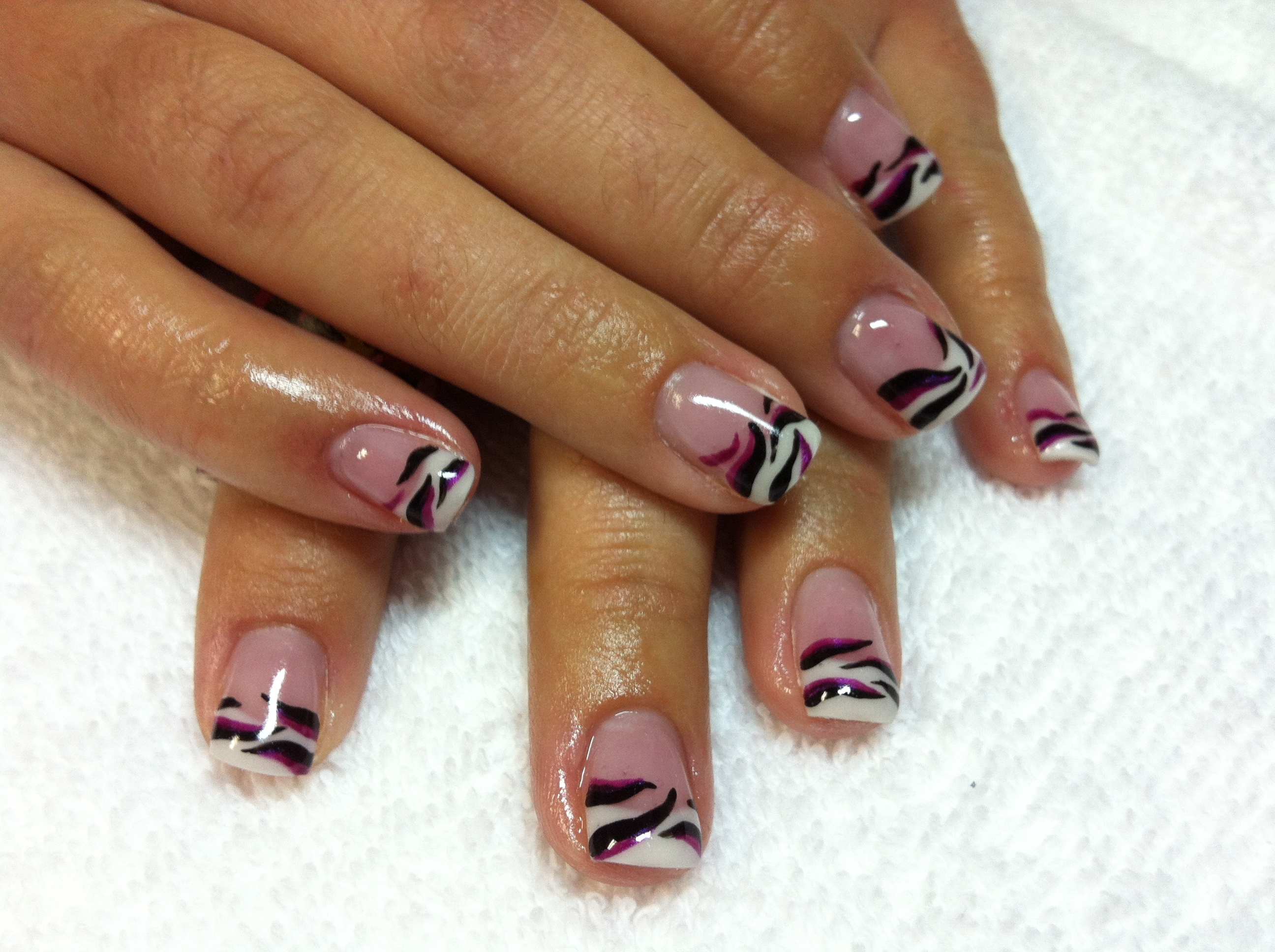 gel nails french tip designs photo - 2