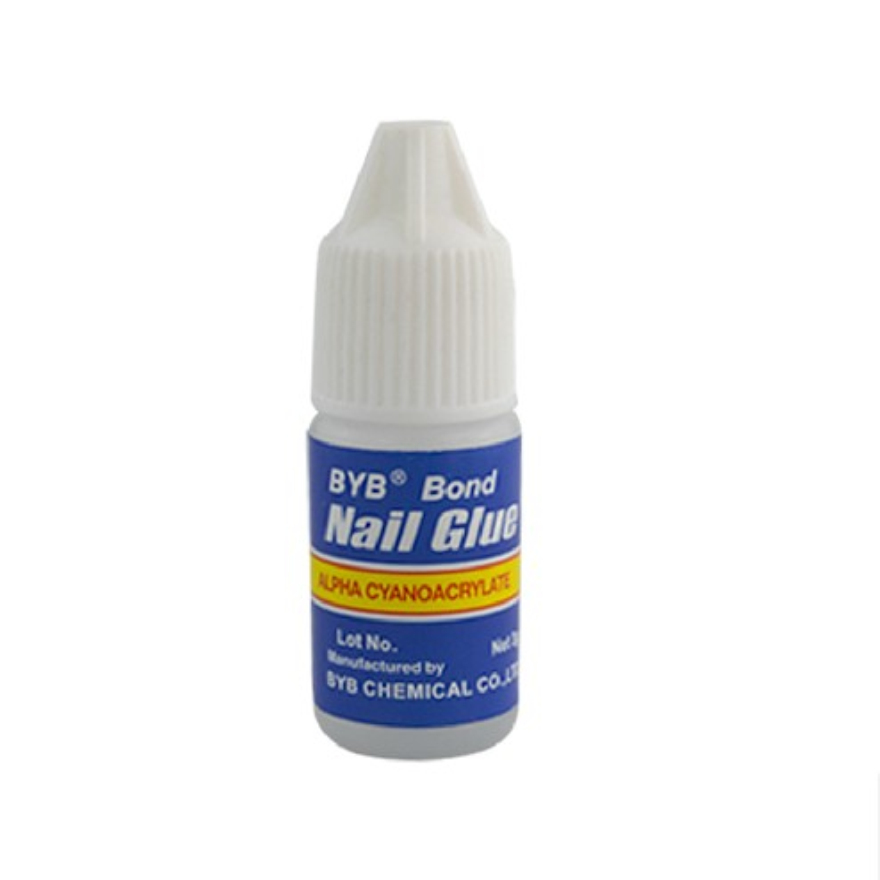 gel nails glue on photo - 2