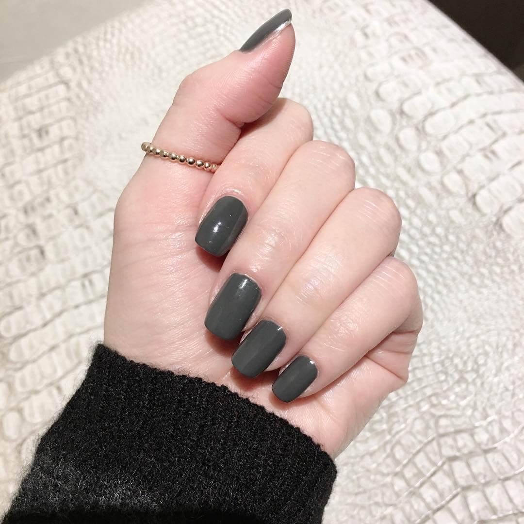 gel nails grey photo - 2