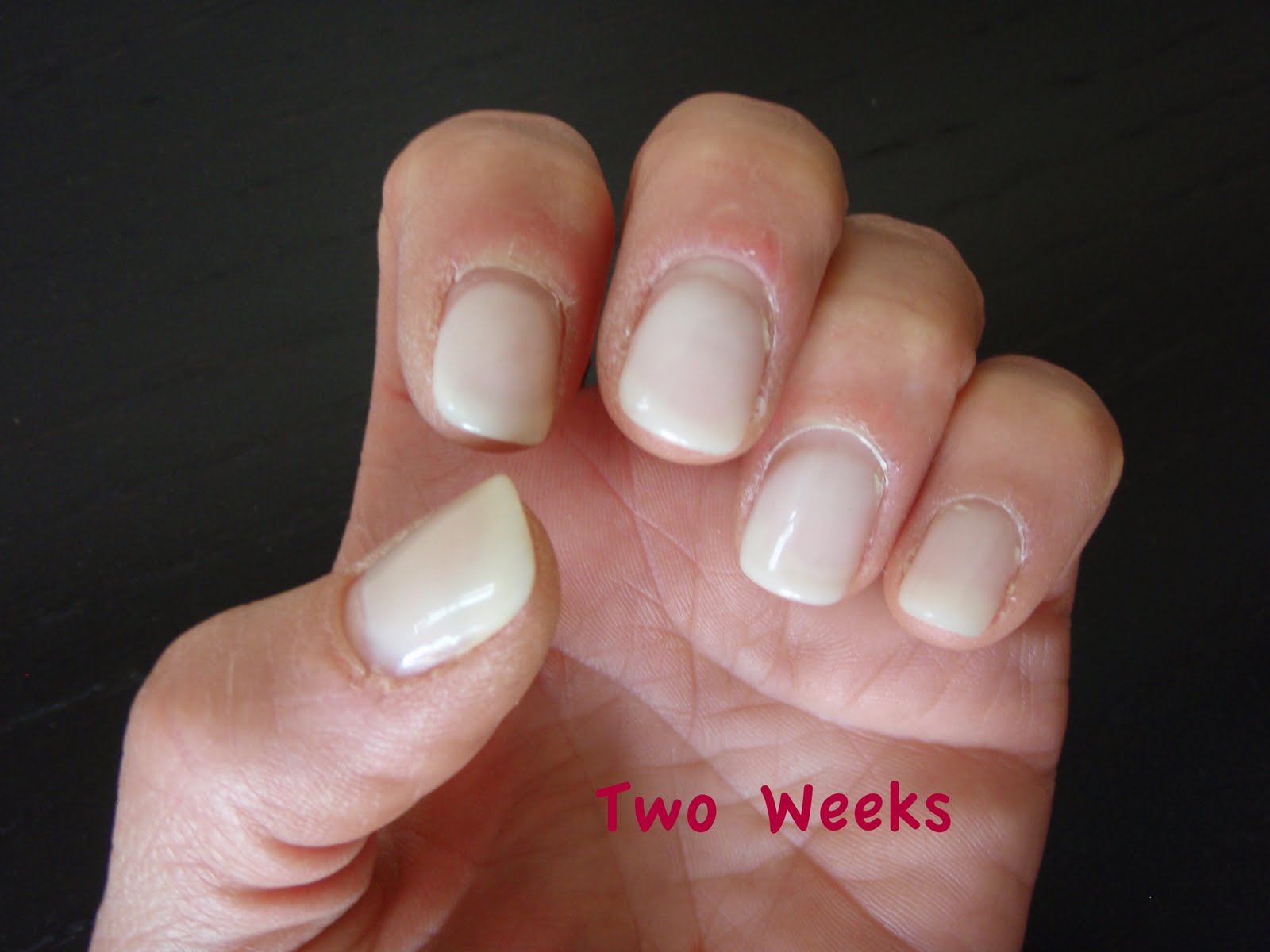 gel nails growing out photo - 1