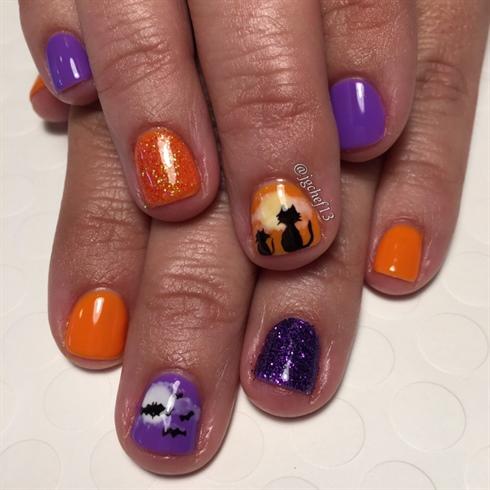 gel nails halloween photo - 1