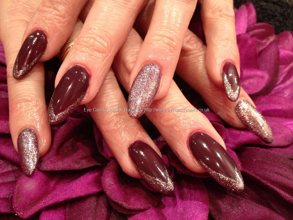 gel nails maroon photo - 2