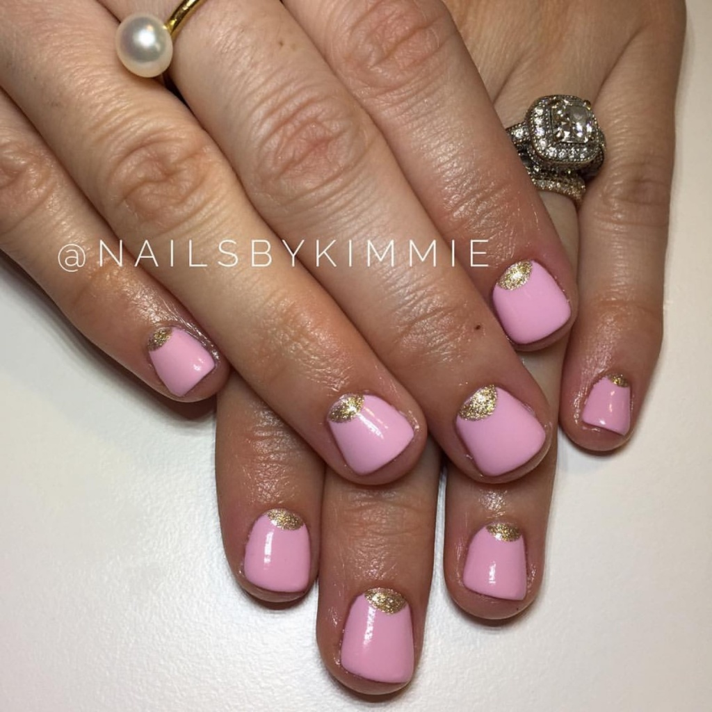 gel nails new years photo - 2