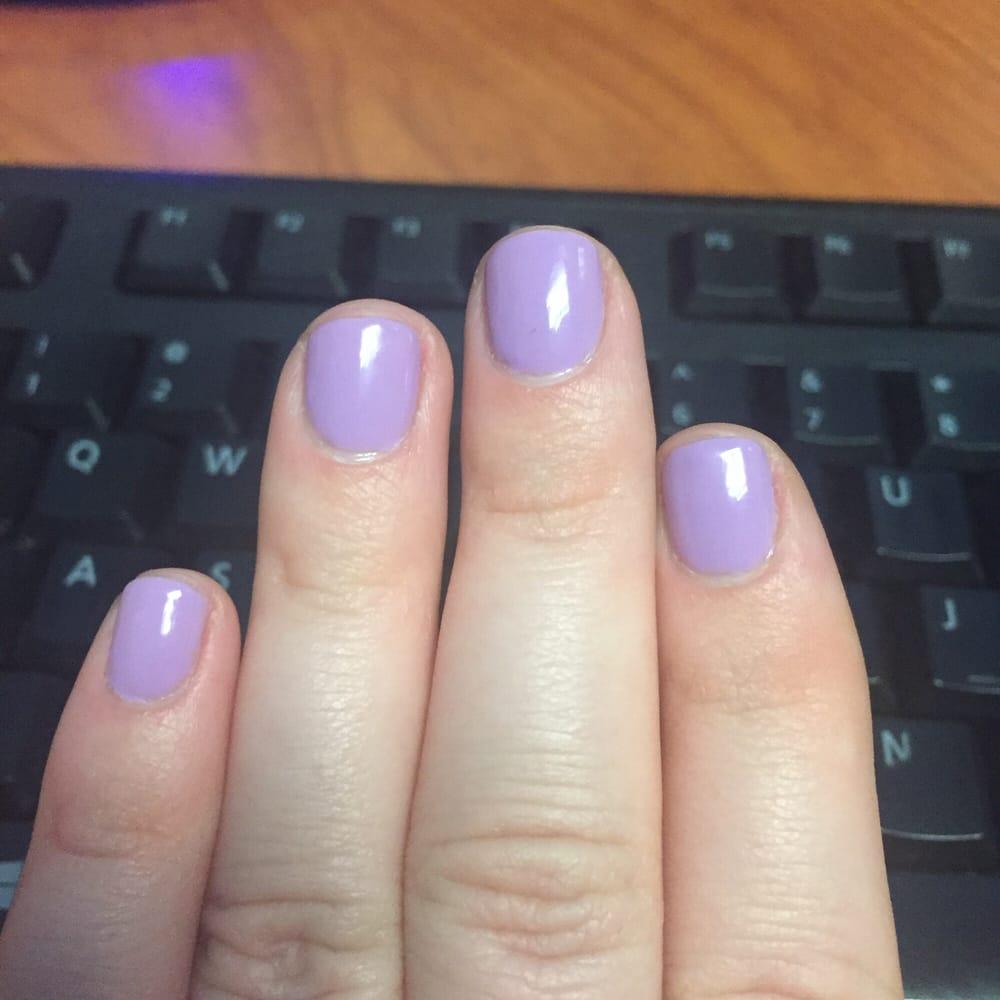 gel nails on really short nails photo - 1