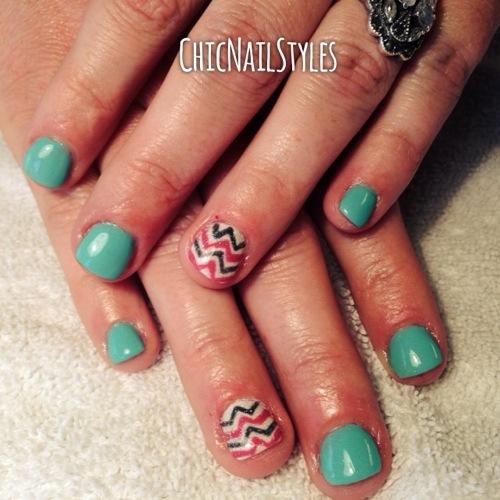 Gel nails on short bitten nails - Expression Nails