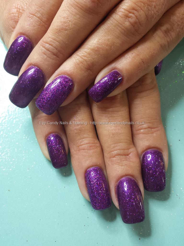 gel nails purple photo - 2