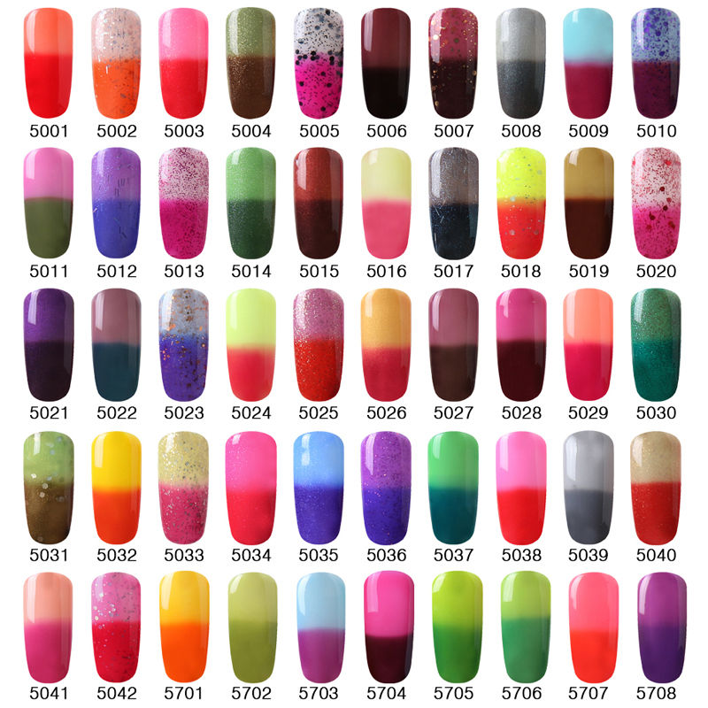 gel nails that change color photo - 1