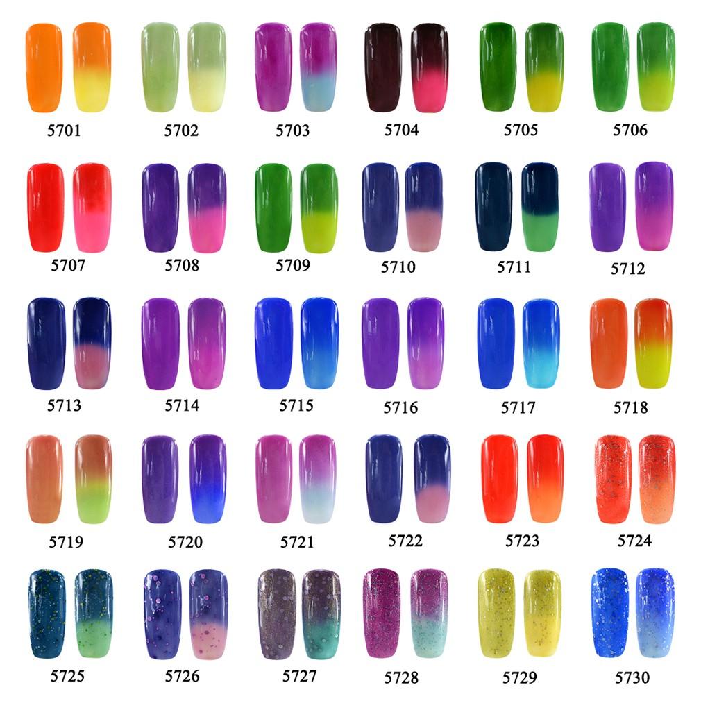 gel nails that change color photo - 2