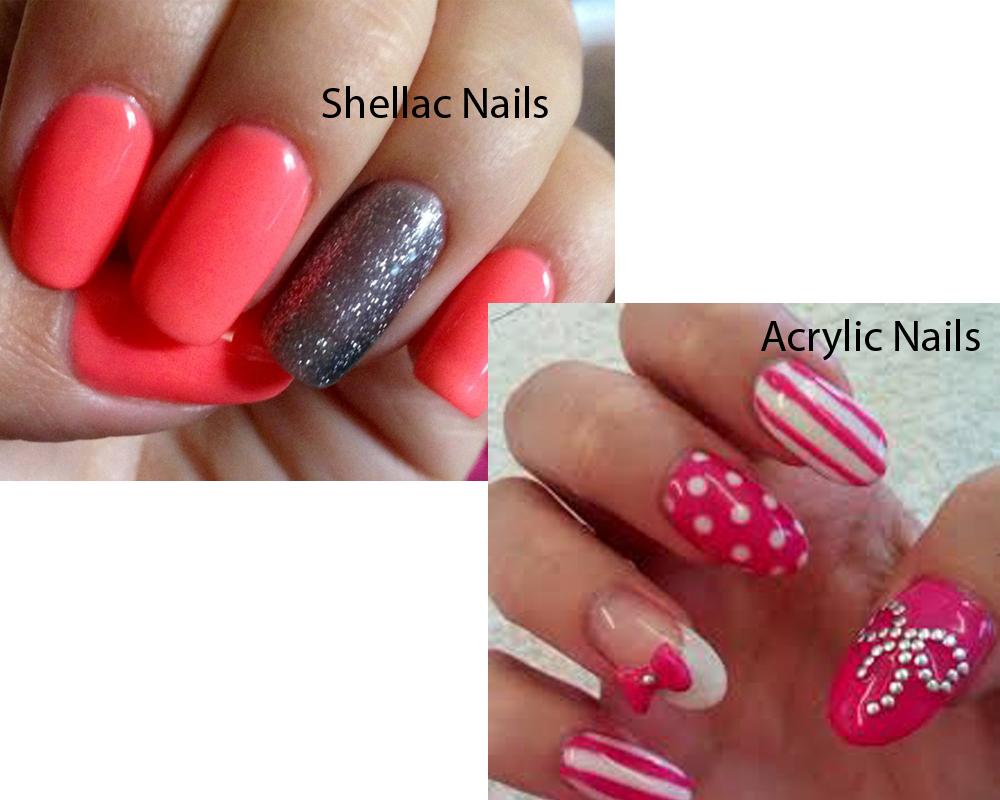 gel nails vs acrylic nails vs shellac photo - 1