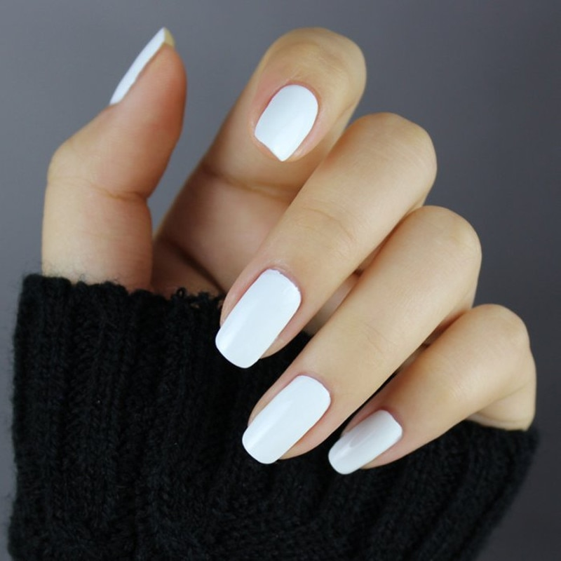 gel nails white photo - 2