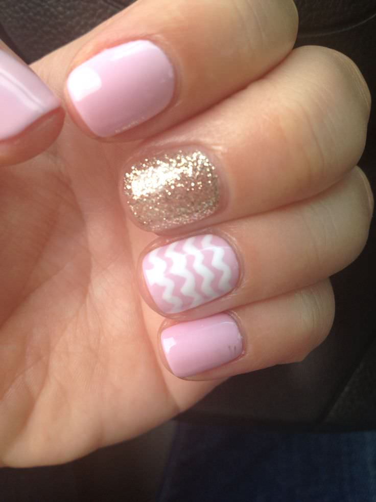 gel nails with design photo - 1