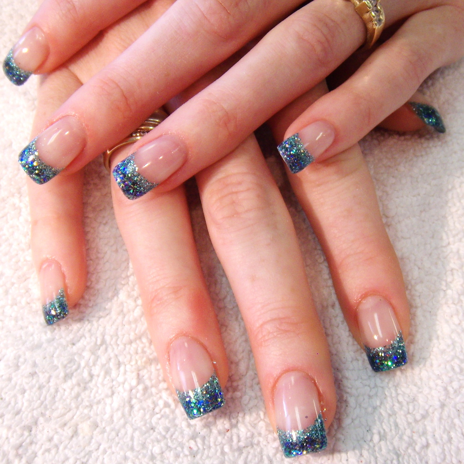 gel nails with design photo - 2