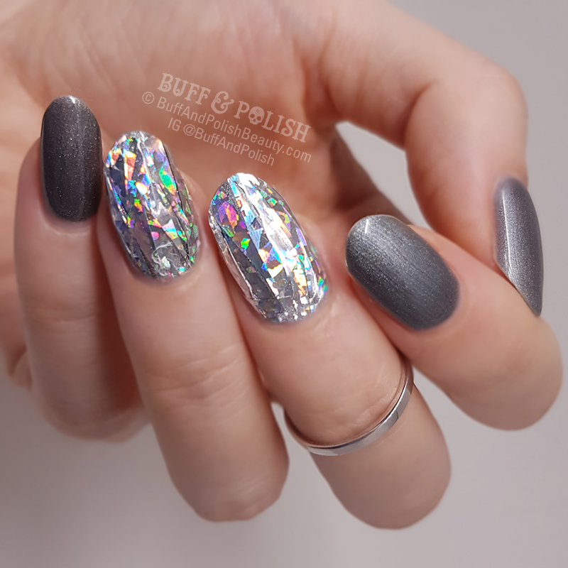 Gel nails with diamonds - Expression Nails