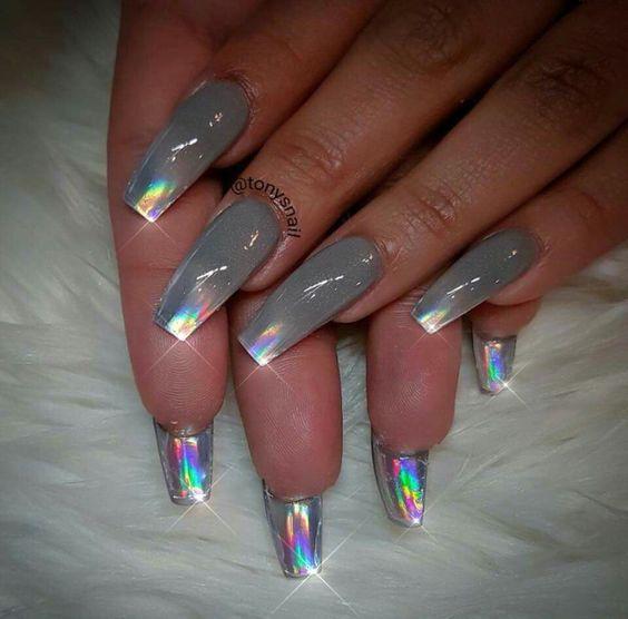 gel polish on top of acrylic nails photo - 1