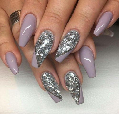 Glitter ombre acrylic nails - Expression Nails