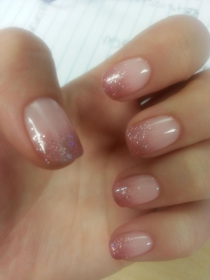 Glitter Ombre Gel Nails New Expression Nails