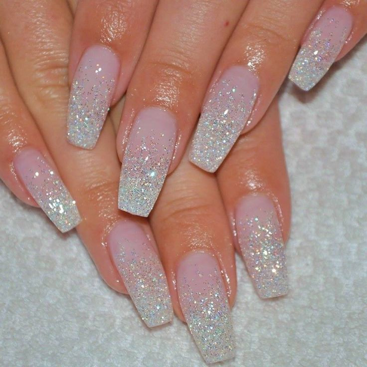 glitter ombre gel nails photo - 2