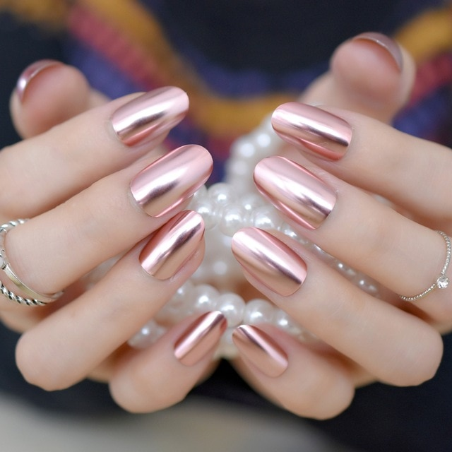 glitter tip with medium pink acrylic nails photo - 2