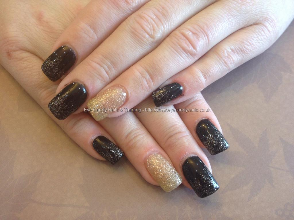 gold acrylic nails photo - 2