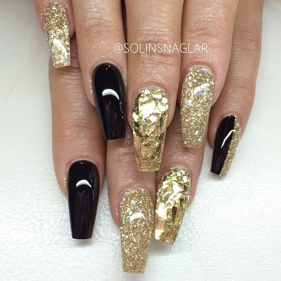 gold coffin nails photo - 1