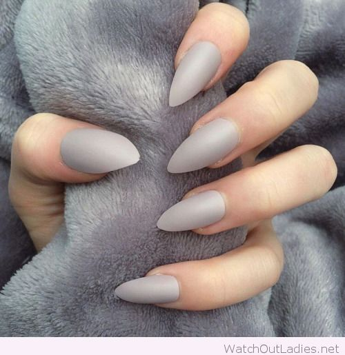 Gray stiletto nails , New Expression Nails