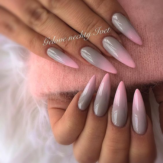 grey gel nails photo - 1