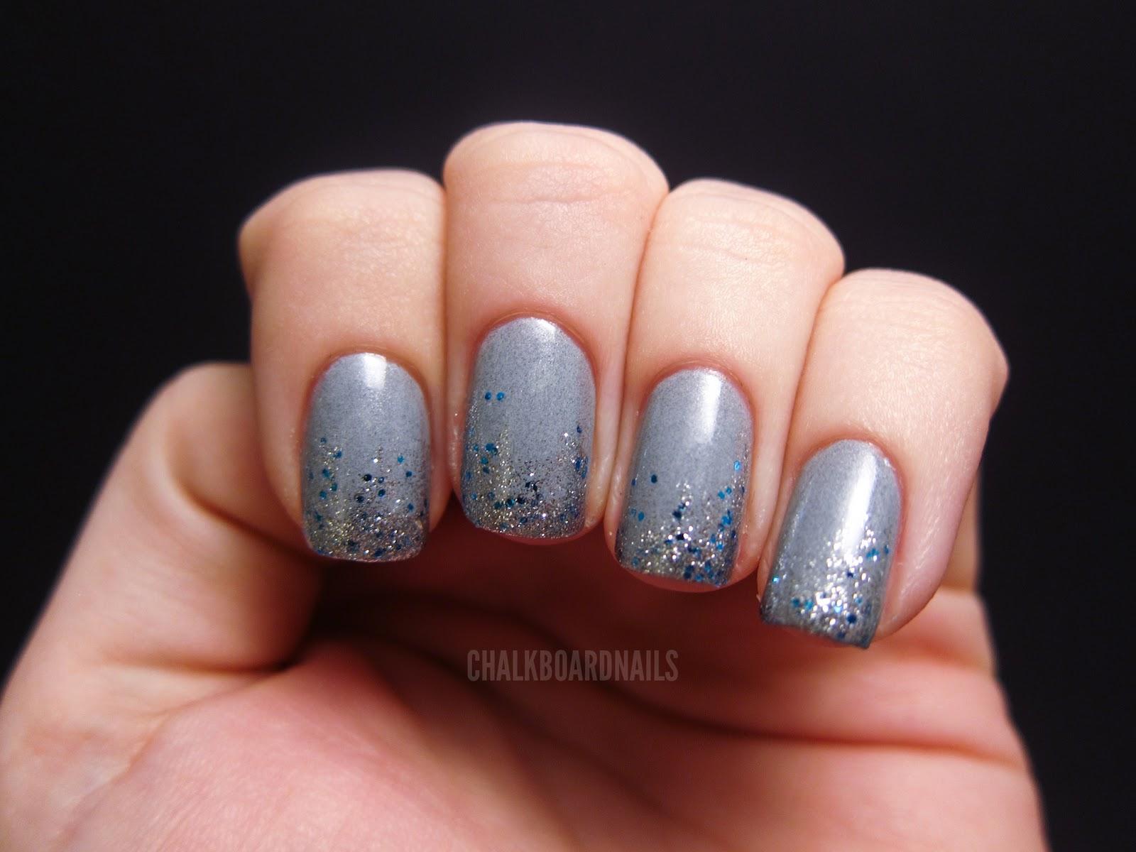 grey gel nails photo - 2