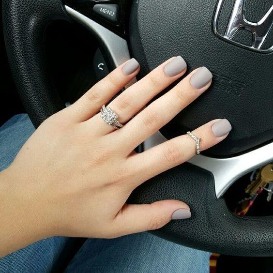 grey stiletto nails photo - 1