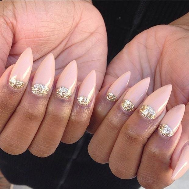 half stiletto nails photo - 1