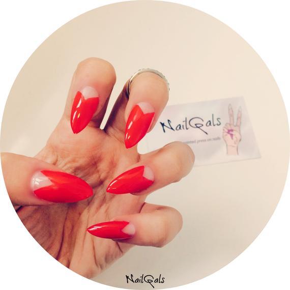 half stiletto nails photo - 2