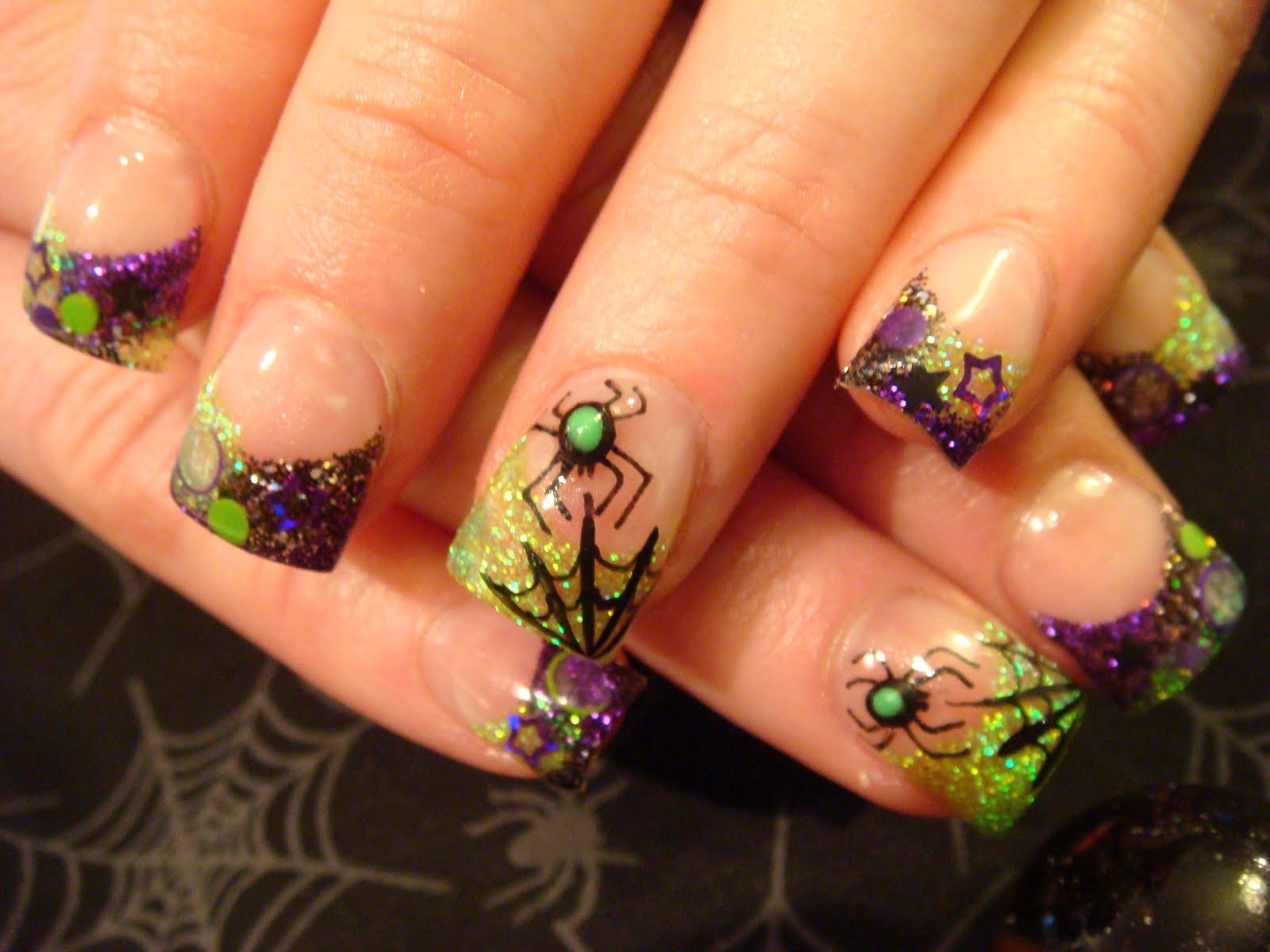 Halloween acrylic nails , New Expression Nails