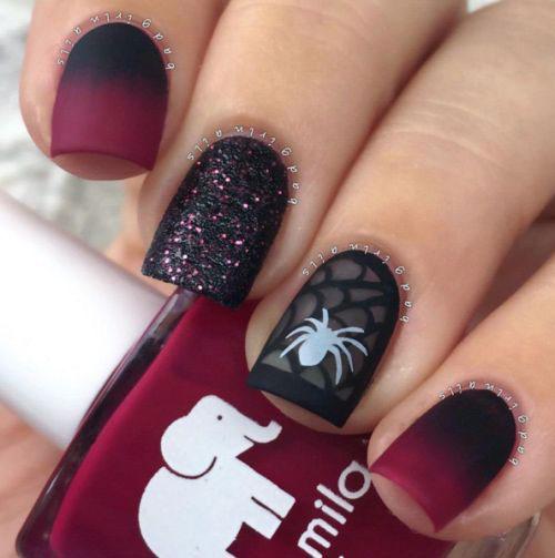halloween spooky acrylic nails photo - 1