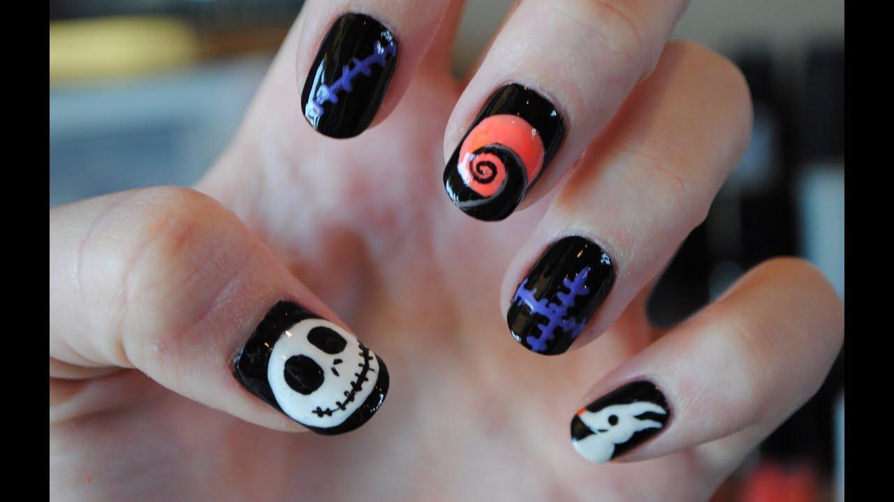 halloween spooky acrylic nails photo - 2