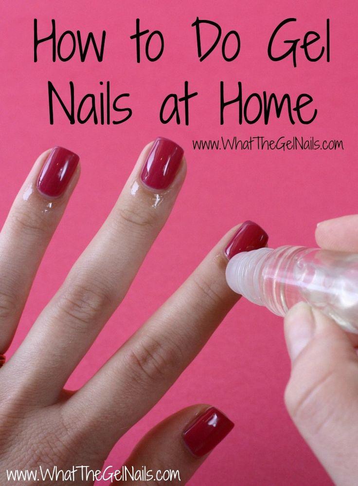 hard gel nails at home photo - 2