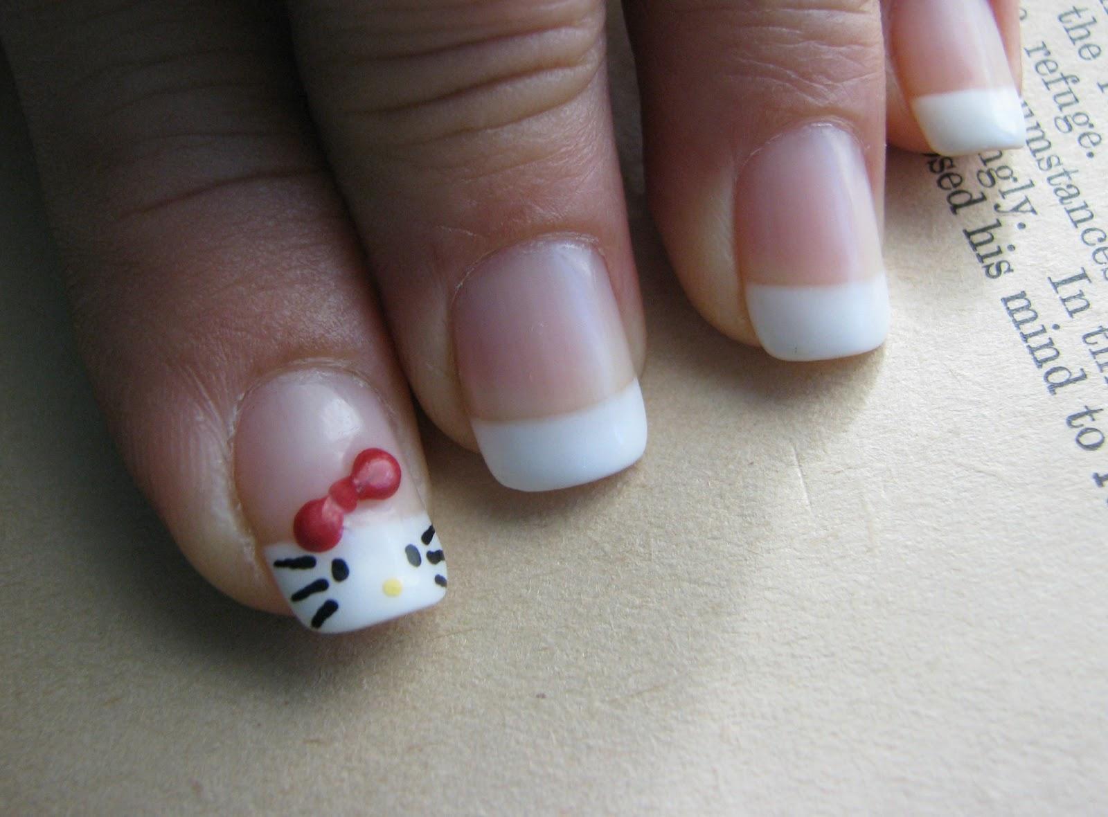 hello kitty gel nails photo - 1
