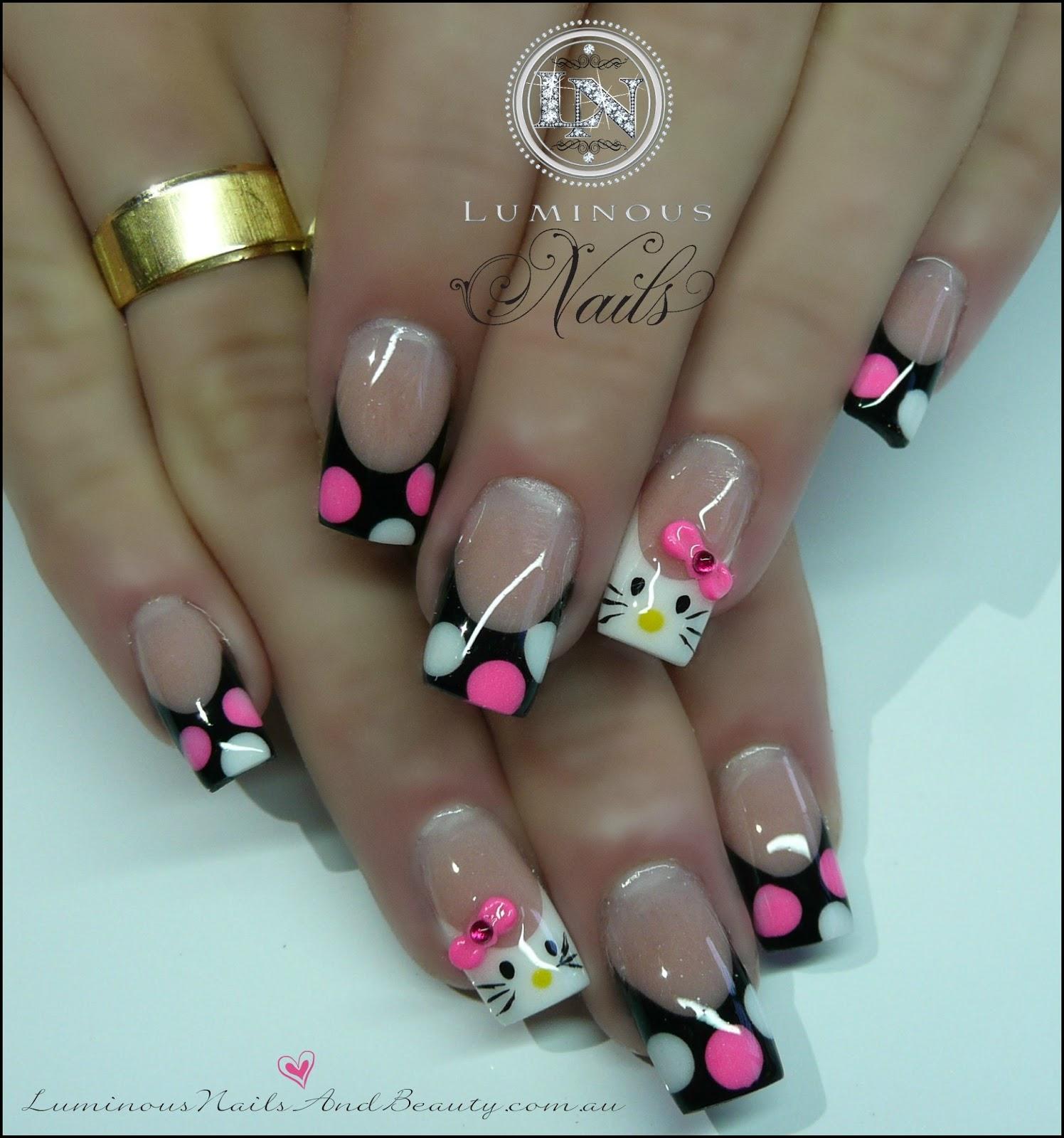 Hello Kitty Gel Nails Expression Nails