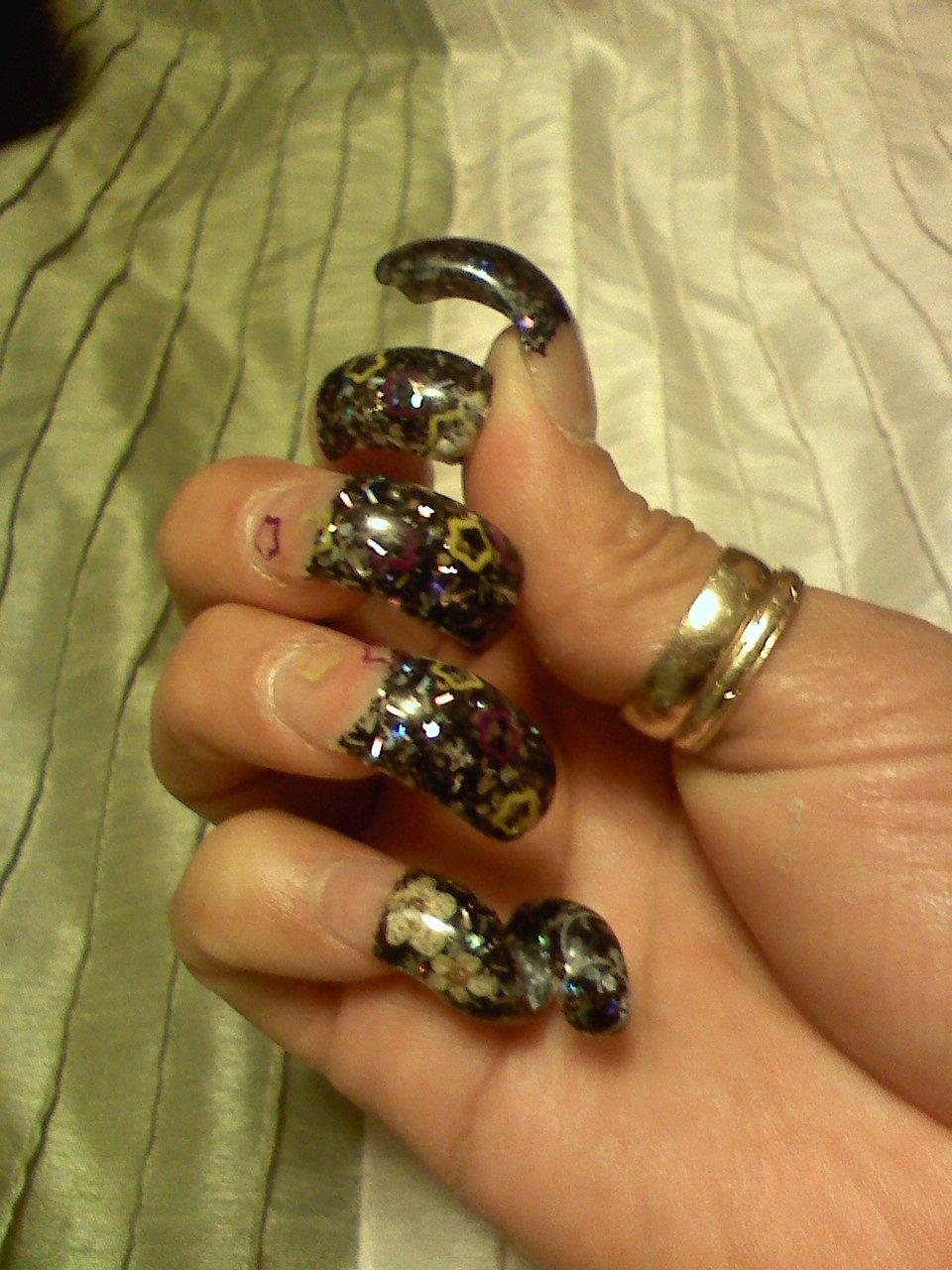 holiday long acrylic nails photo - 1