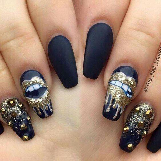 holiday long acrylic nails photo - 2