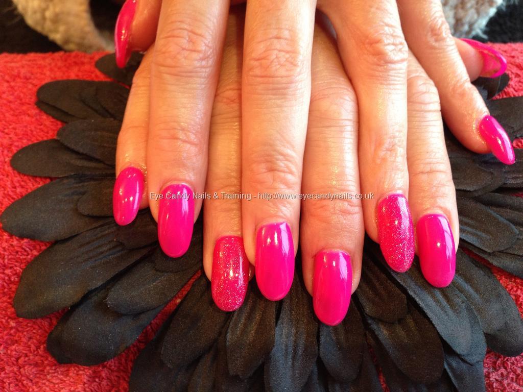 Hot pink acrylic nails - Expression Nails
