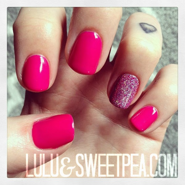Hot Pink Gel Nails Photo