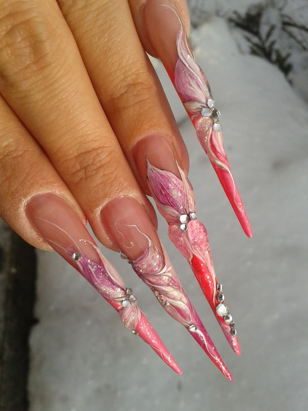 how long can you touch up acrylic nails on photo - 2