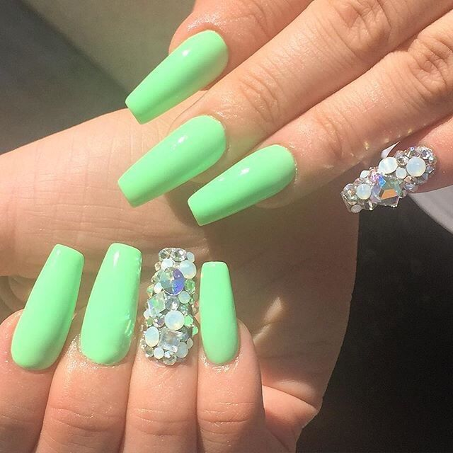 How much do acrylic nails cost at a salon with matte finish - New ...