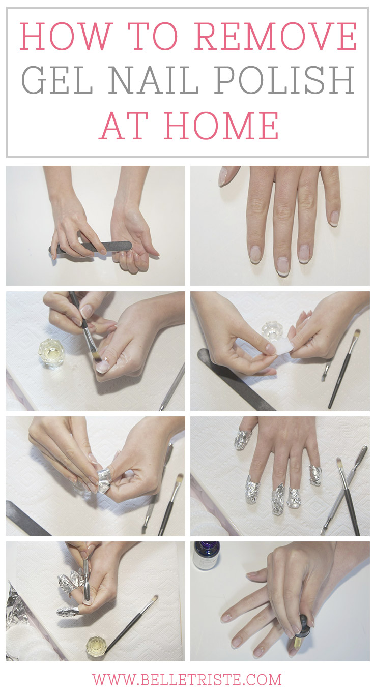 how remove gel nails at home photo - 1