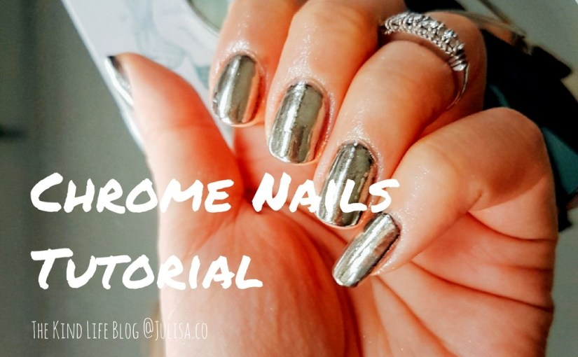 how to achieve chrome nails without gel photo - 2