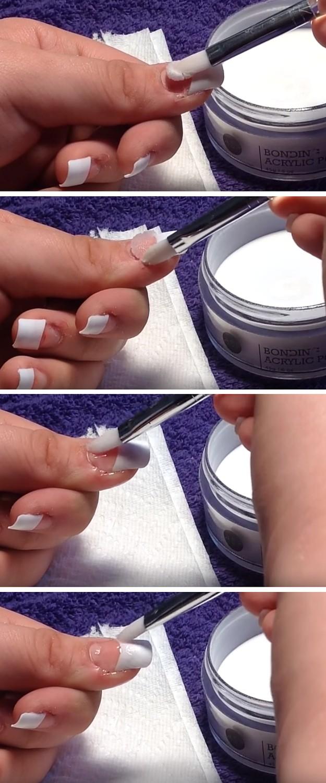 how to apply acrylic nails photo - 1