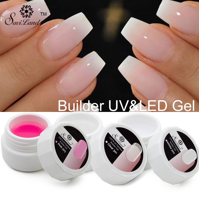 how to apply pink builder gel for french nails photo - 1