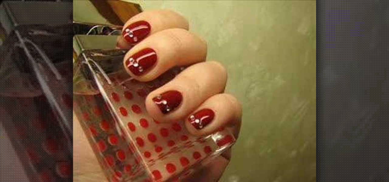 how to apply rhinestones to gel nails photo - 1
