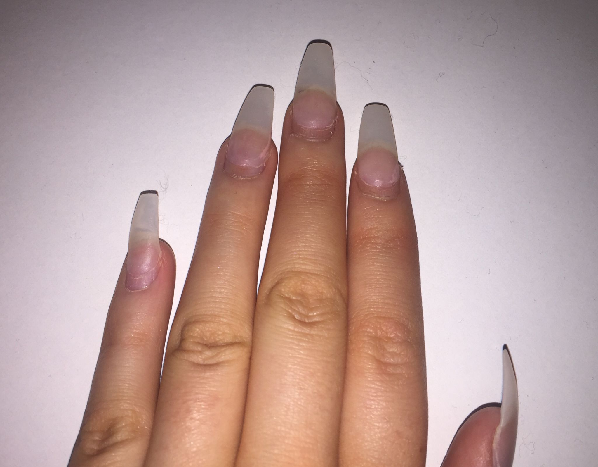 how to cut down acrylic nails at home photo - 1