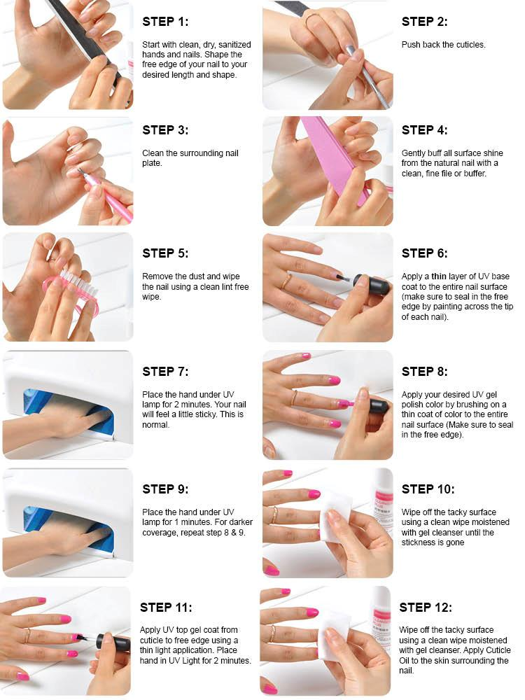 How to do gel nails at home with uv light - Expression Nails