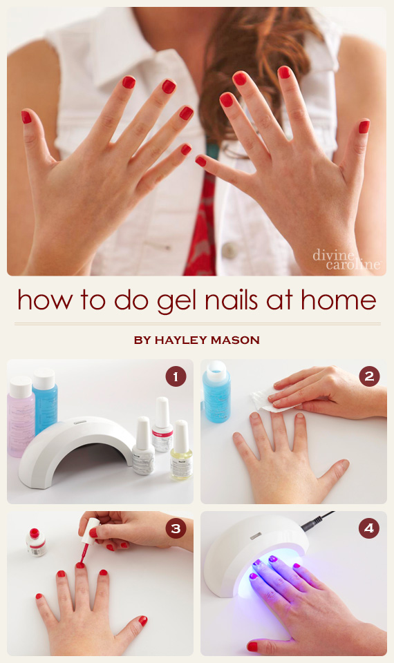 how to do gel nails with tips at home photo - 1